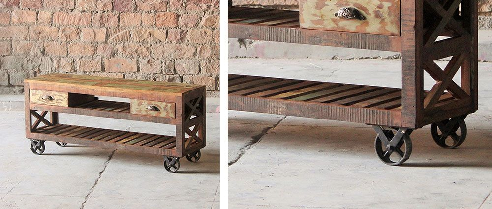 Nice 8 Pieces Of Reclaimed Furniture To Complete Your Industrial Style Home.  Mary Rose TV Plasma Design