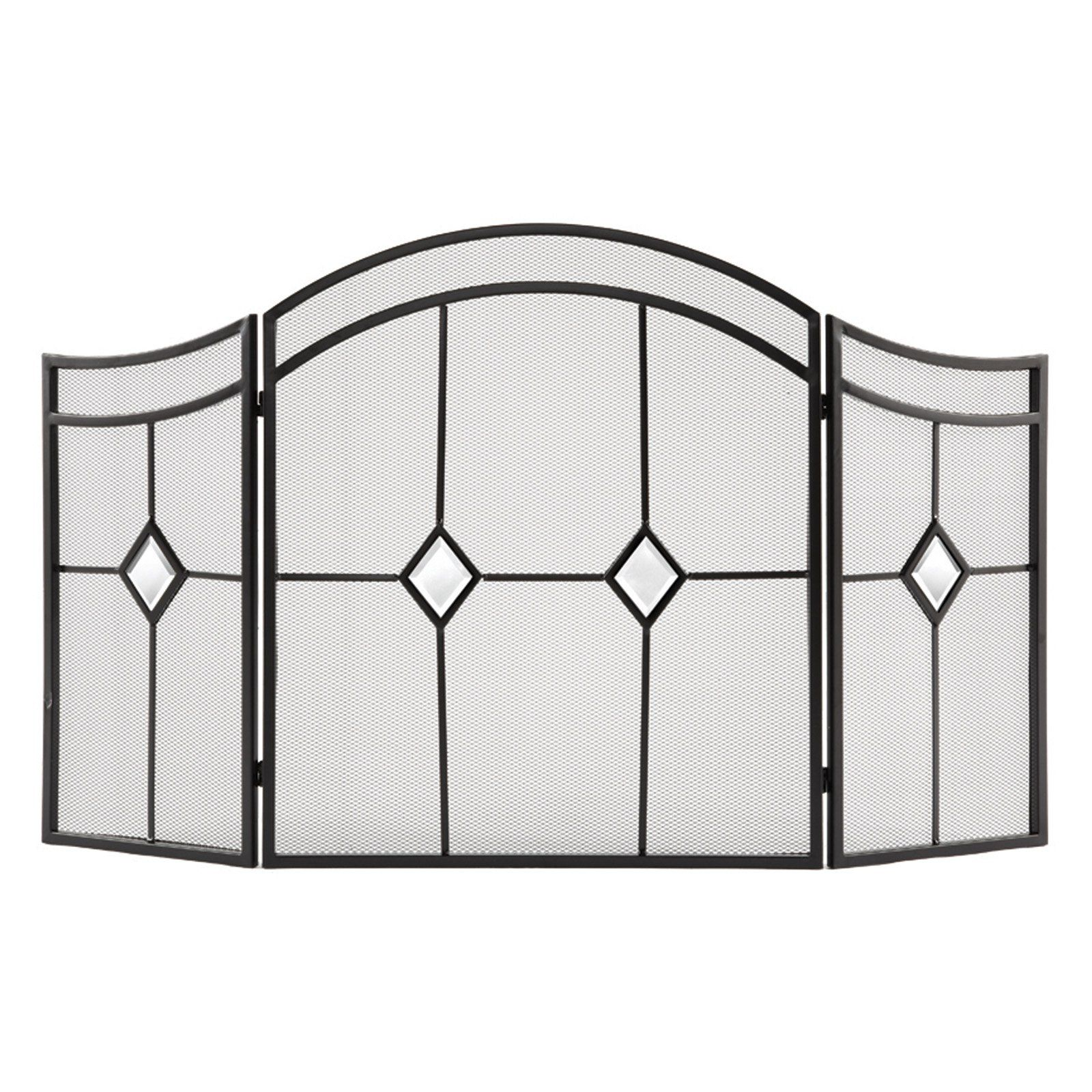 arts and crafts style curved fireplace screen furniture accents