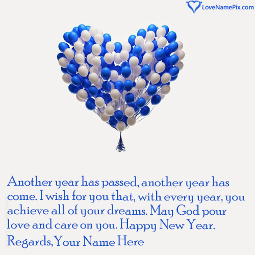 write any name and create New Year Wishes For Friends With Name ...