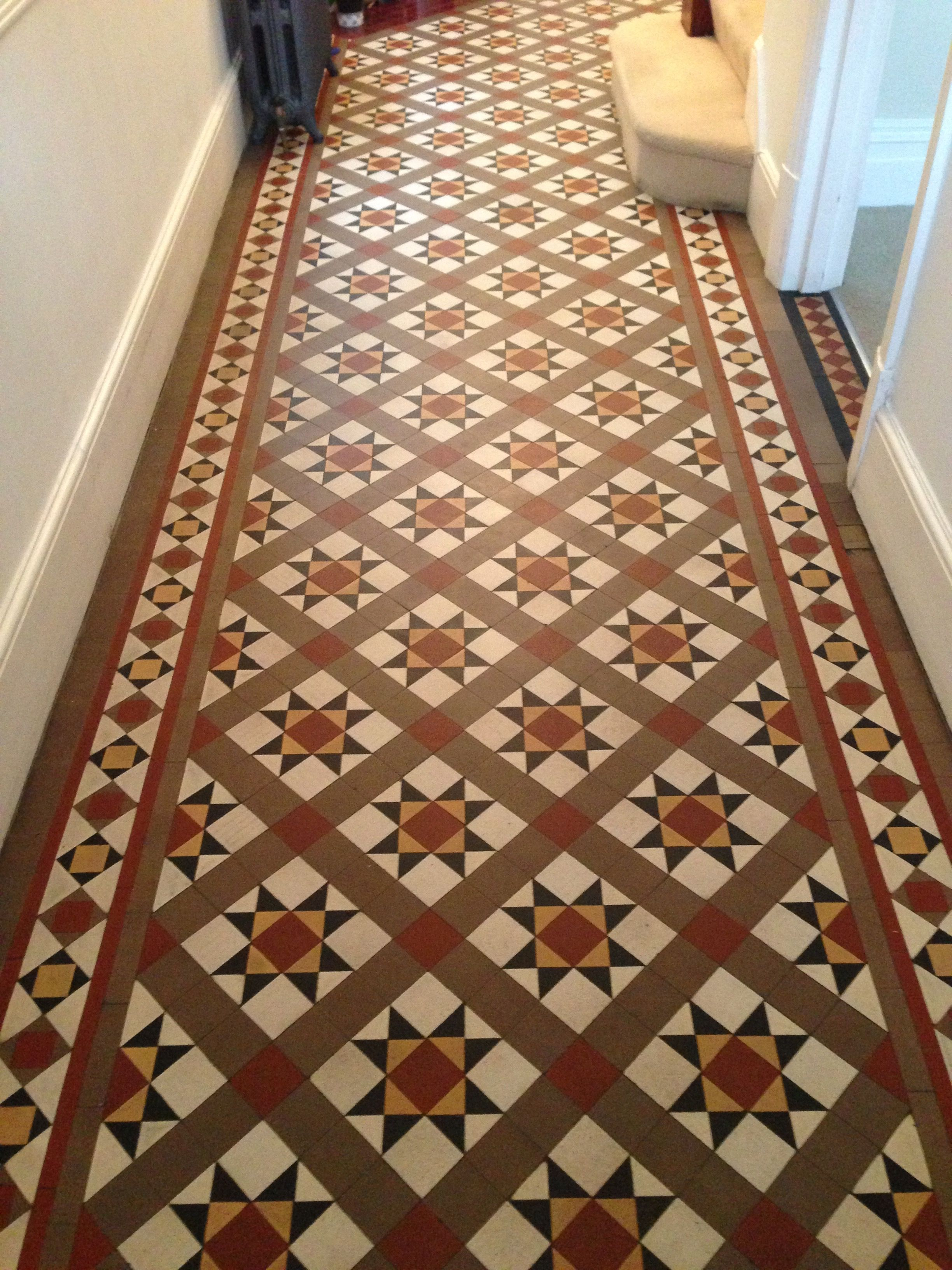 Restored Victorian Tiled Floor In London The Work Was Undertake