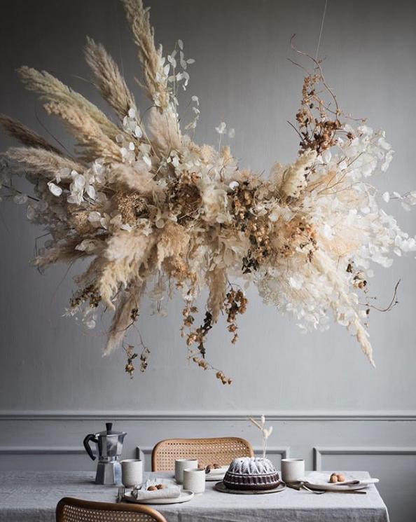 Sculptural Suspended Flower Installations + Online