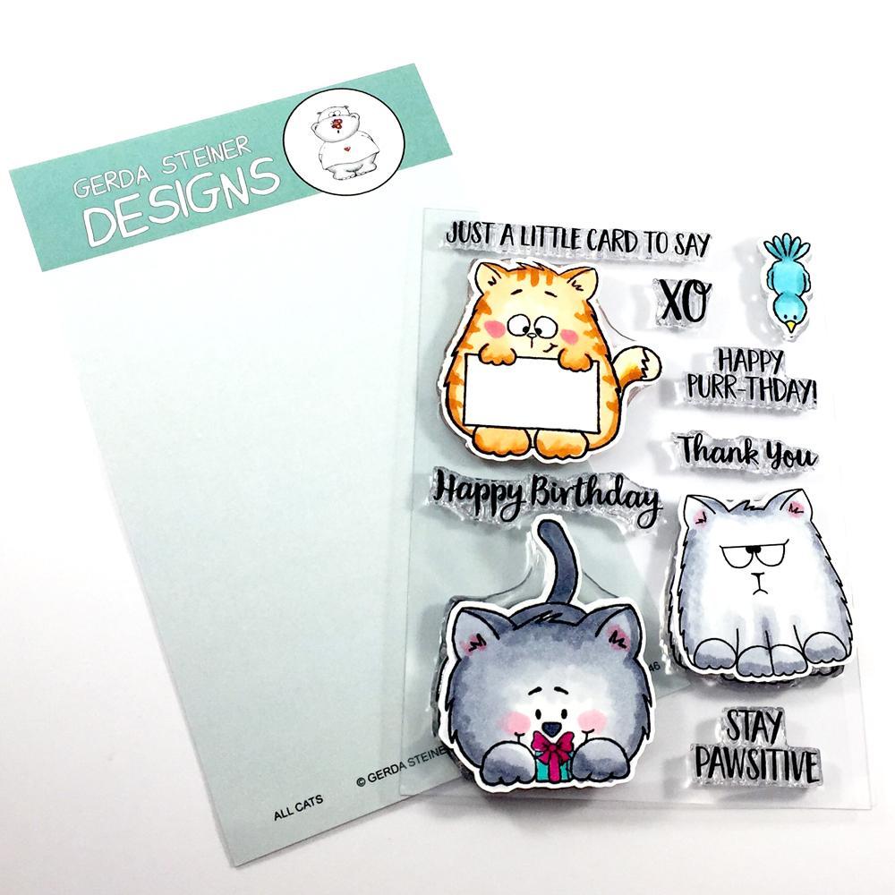 All Cats 4x6 Clear Stamp Set (med billeder)