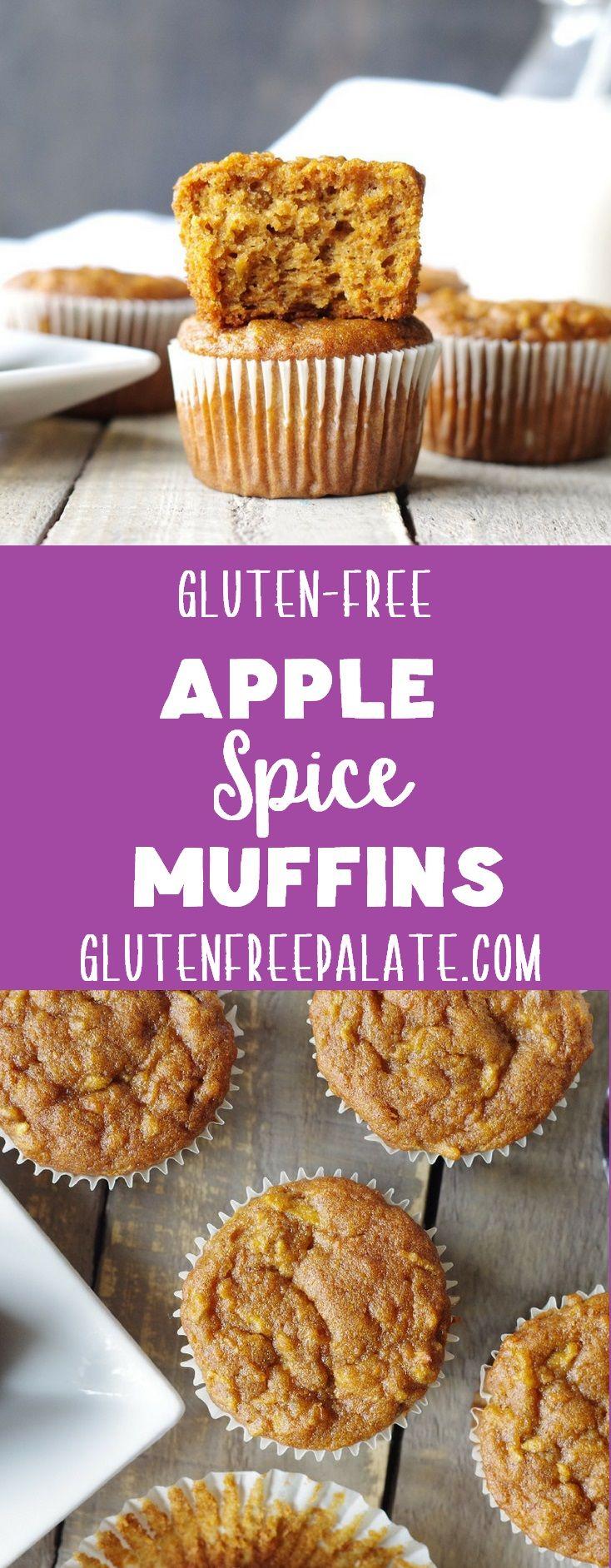 Easy Gluten-Free Apple Muffins #glutenfreebreakfasts