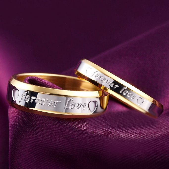 1pcs Never fade engagement 18k gold silver plated forever Love