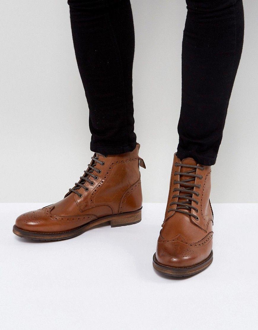 KG KURT GEIGER HARRY BROGUE BOOTS IN TAN - TAN.  kgkurtgeiger  shoes ... 1466aa624ea
