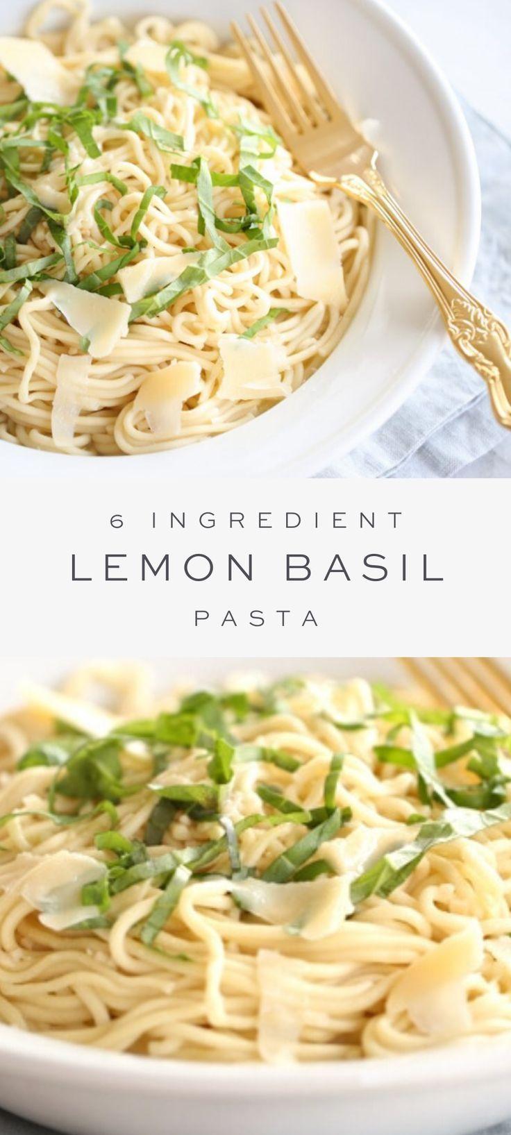 Photo of Easy Basil Lemon Sauce for Pasta