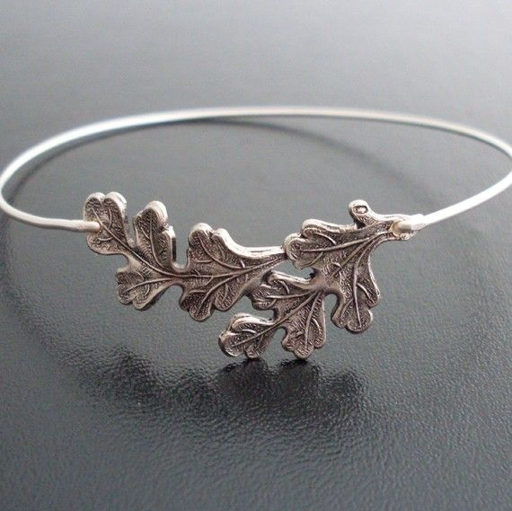 Oak leaf bangle bracelet silver oak leaf bracelet oak leaf oak leaf bangle bracelet silver oak leaf bracelet oak leaf jewelry oak leaves oak bracelet oak bangle oak tree jewelry oak jewelry aloadofball Choice Image