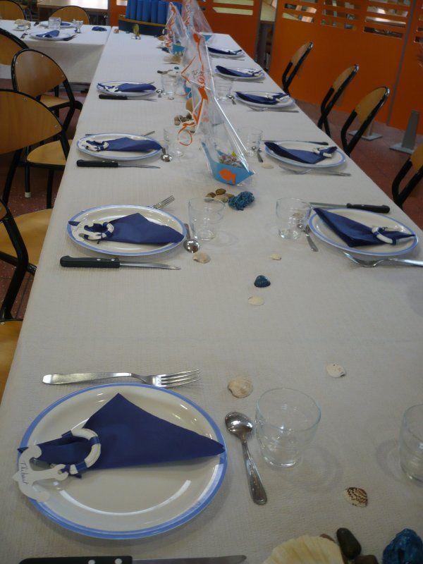 D coration de table pour un anniversaire sur le th me de la mer id e 50e - Decoration table mer ...