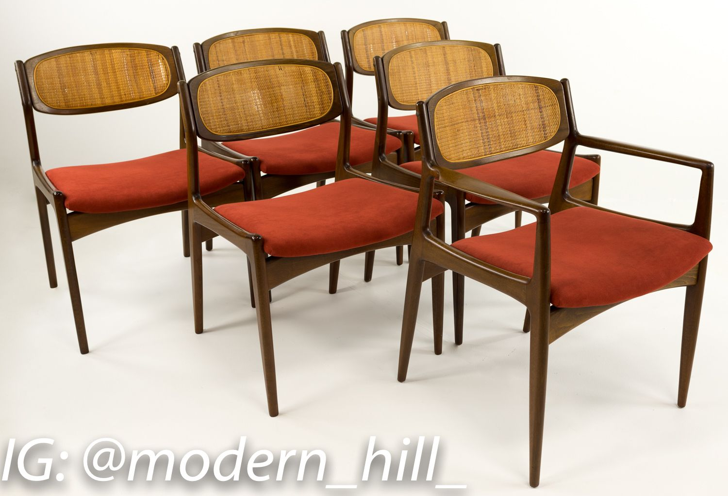Kofod Larsen For Selig Mid Century Dining Chairs Set Of 6 Mid