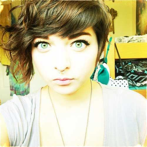 20 Curly Asymmetrical Pixie Hairstyles | Short Hairstyles