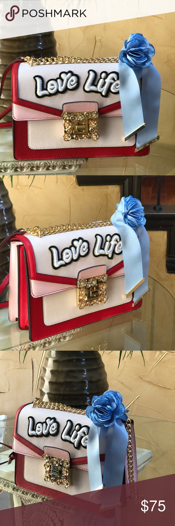 3b6d4903d00 NWT Aldo sonara love life crossbody bag red  pink Complete your outfit with  an iconic