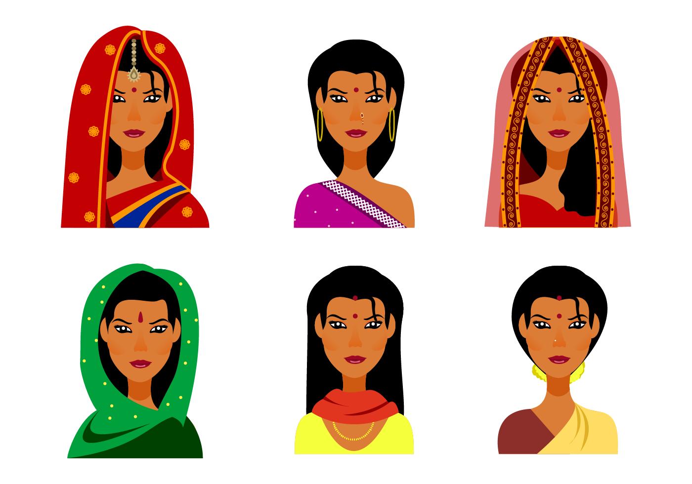 Free Indian Woman Vector Indian Women Vector Art Woman Illustration