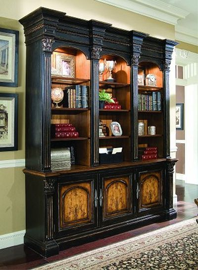 hooker north hampton bookcase french country furniture furniture large furniture. Black Bedroom Furniture Sets. Home Design Ideas