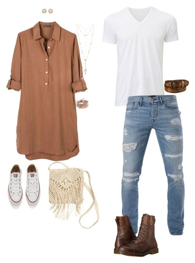 """Day 7 : Music"" by crierbebe on Polyvore featuring United by Blue, Converse, Kate Spade, Aéropostale, House of Harlow 1960, H&M, Uniqlo, 3x1 and Dr. Martens"