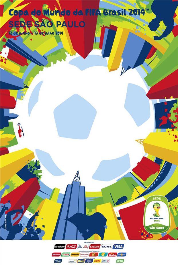 Los Carteles De Brasil 2014 Conócelos Mi Seleccion Copa Del Mundo De Futbol Mundial De Futbol Copa Del Mundo 2014