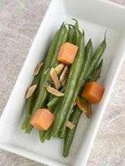 Green Beans with Nectarines and Toasted Almonds  www.partiesthatcook.com