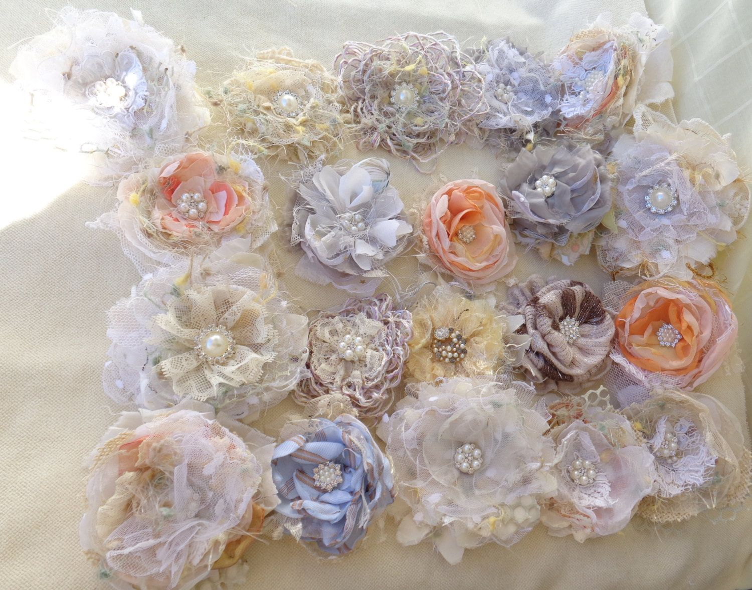 Fabric flower floral supplies fleur de tissus wedding flower fabric flower floral supplies fleur de tissus wedding flower crown supplies wedding supplies shabby chic flowers izmirmasajfo