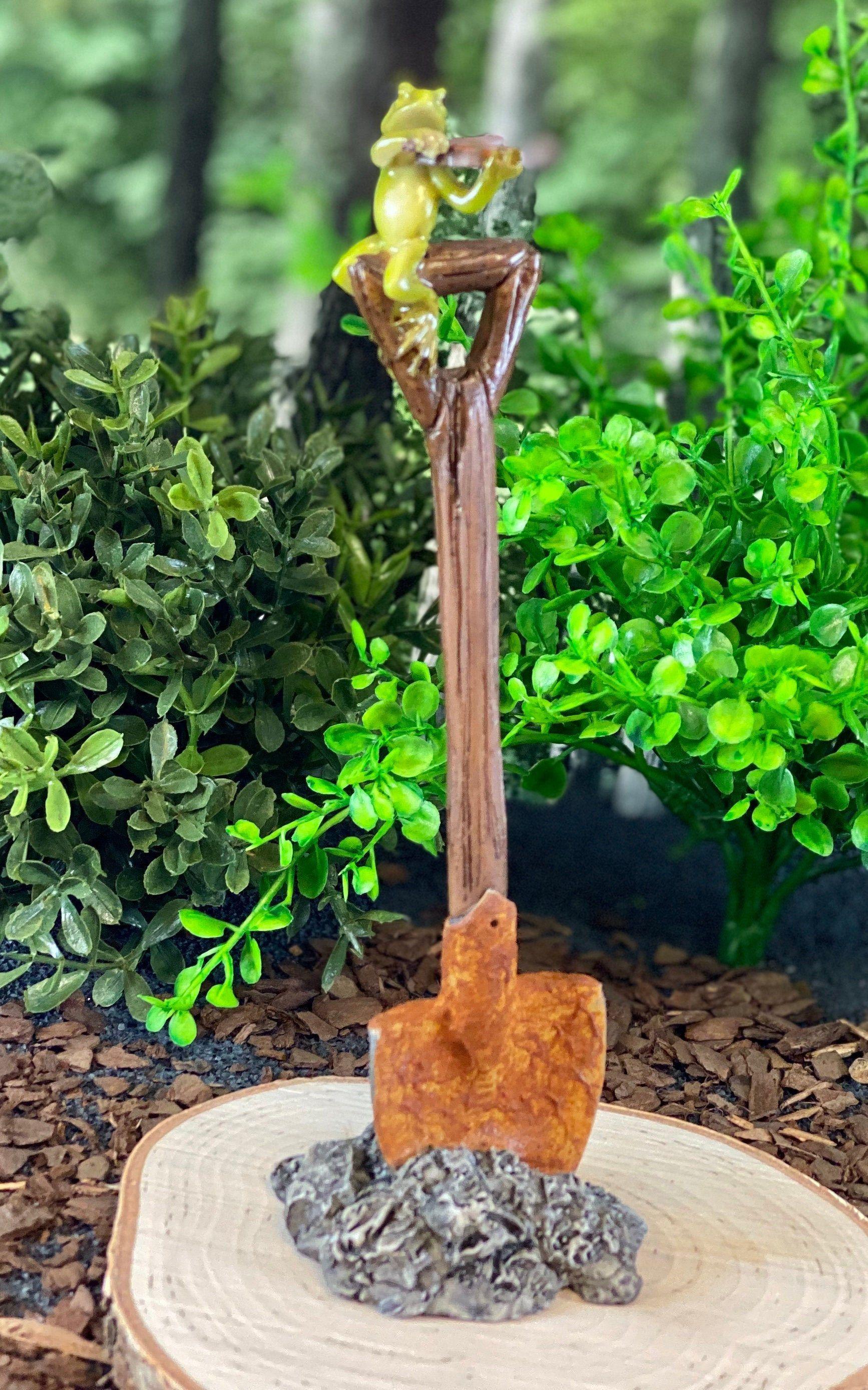 Miniature Dollhouse FAIRY GARDEN Accessories ~ Orange /& Yellow Butterfly Chair