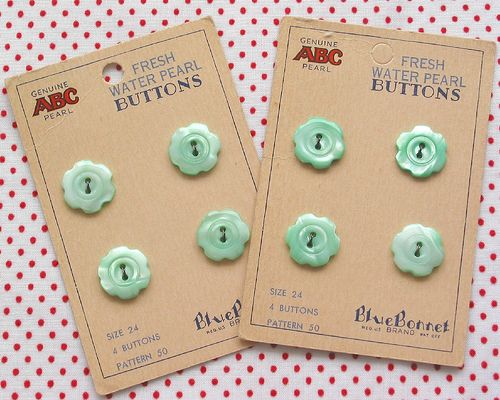 Vintage Button Cards | Flickr - Photo Sharing!