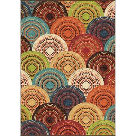 Better Homes and Gardens Bright Dotted Circles Olefin Rug - Walmart.com