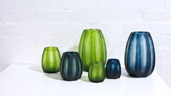 Tulip Glass Vase - Fern