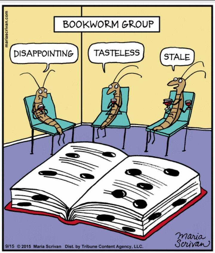 Discussions at the bookworm book club........ wie heißt das Buch, das Du zuetzt gelesen hast?