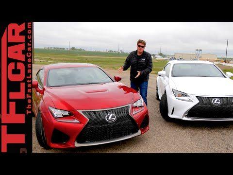 2015 Lexus Rc F Vs Rc 350 F Sport Drag Race 0 60 Mph Mashup Review Lexus Racing Drag Race