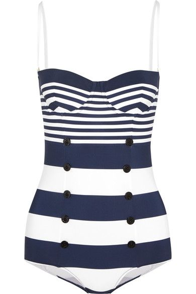 959756282f Dolce & Gabbana - Striped swimsuit | My Style - Timeless Glamour and ...