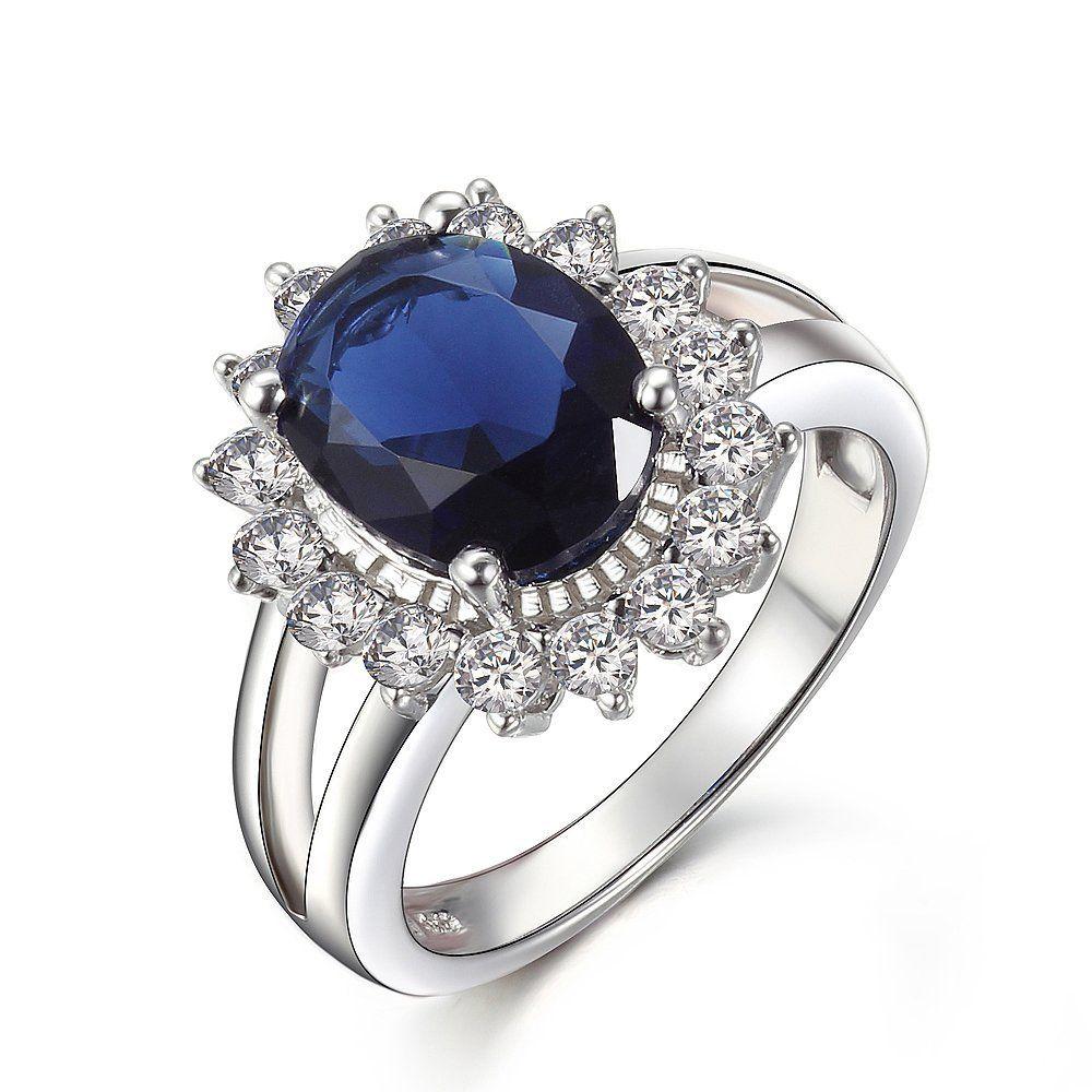 KIVN Fashion Jewelry Royal Blue Cubic Zirconia Bridal