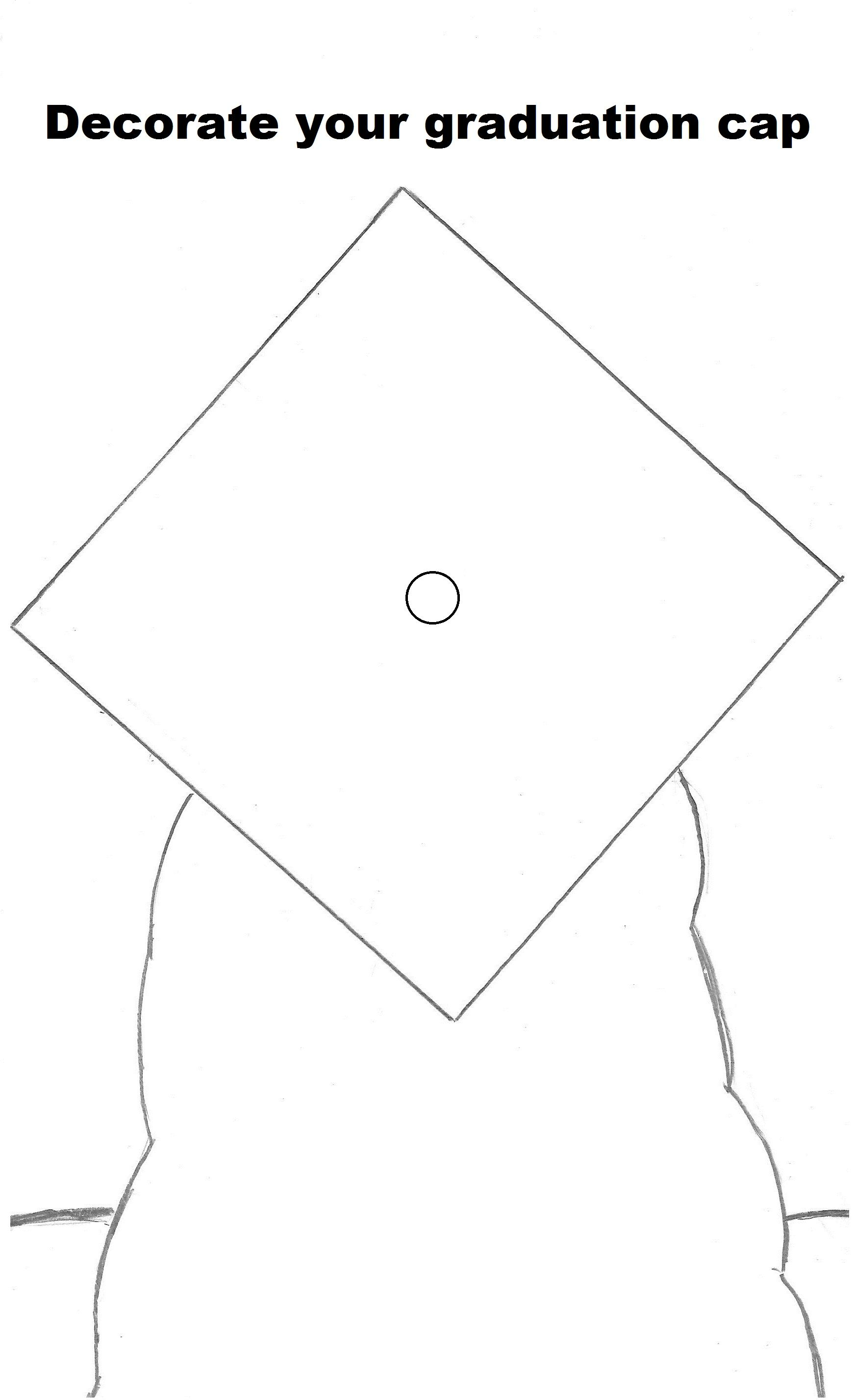 Decorate Your Graduation Cap Coloring Page