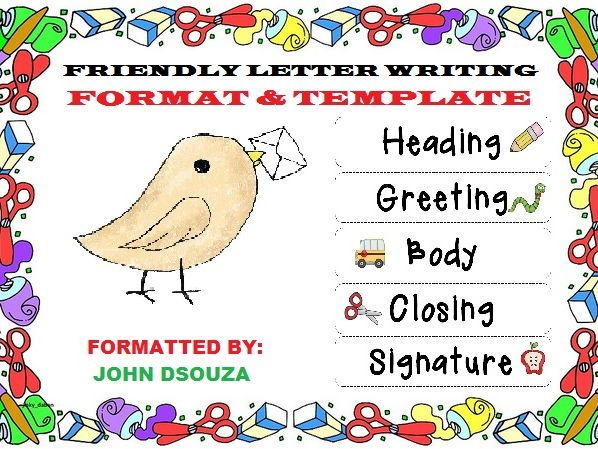 FriendlyInformal Letter Format  Template  My Tes Resources
