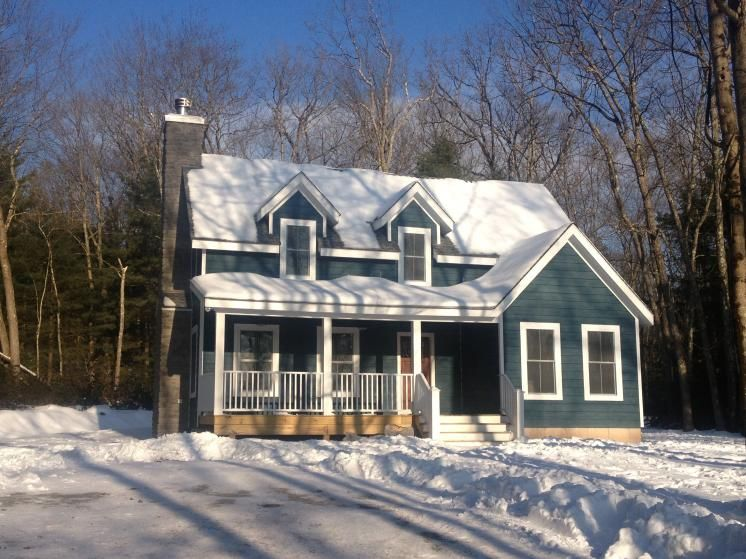 Farmhouse 19 By Catskillfarms 1600sf Of Awesome Living Space On 6 Big Acres Bordering State Land With Lake Outside House Exterior Farmhouse Farmhouse Plans