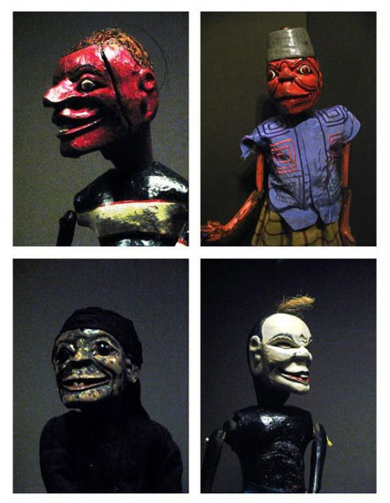 Indonesian puppets perhaps 19th c. puppets scary