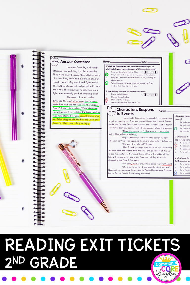 2nd Grade Reading Exit Tickets With Google Forms For Distance Learning In 2020 2nd Grade Reading Text Complexity Reading Informational Texts