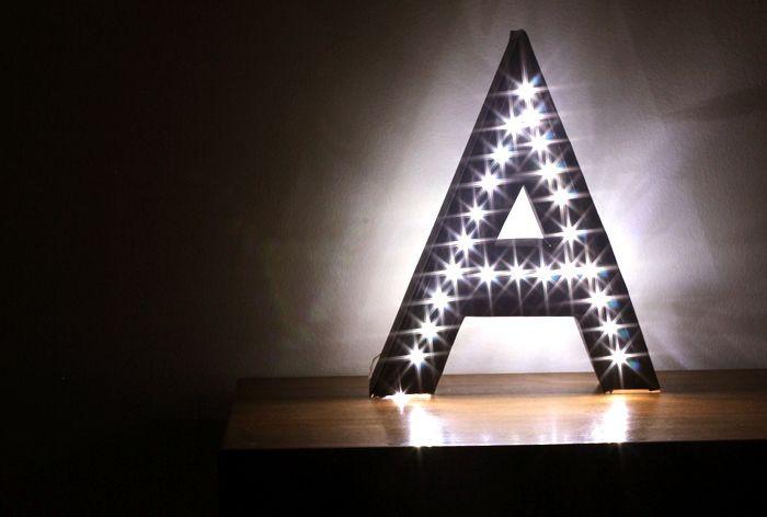 Light up letters DIY