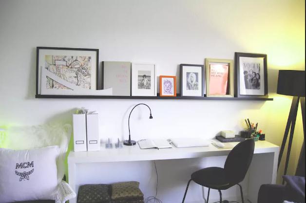 schön schlichte schreibtisch-ecke: weißer schreibtisch mit, Innenarchitektur ideen