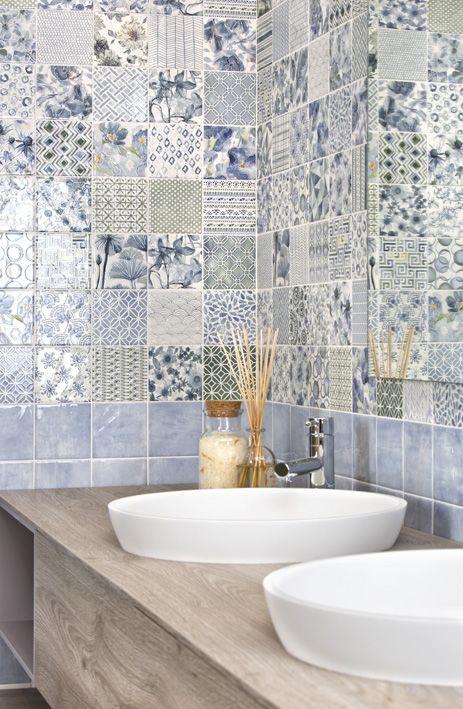 piastrelle per bagno e cucina 20x20 colorate  PIASTRELLE BAGNO in 2019  Arredamento bagno