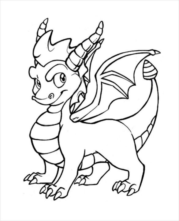 Dragon Drawing Template
