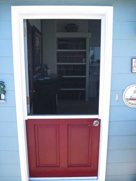 dutch door with optional screen option keeps the insects