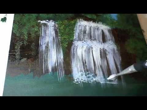 Wasserfall Malen Fur Anfanger How To Paint A Waterfall