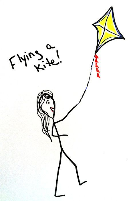 Stickman Drawing Challenge Day 12 Flying A Kite Plus A Surprise