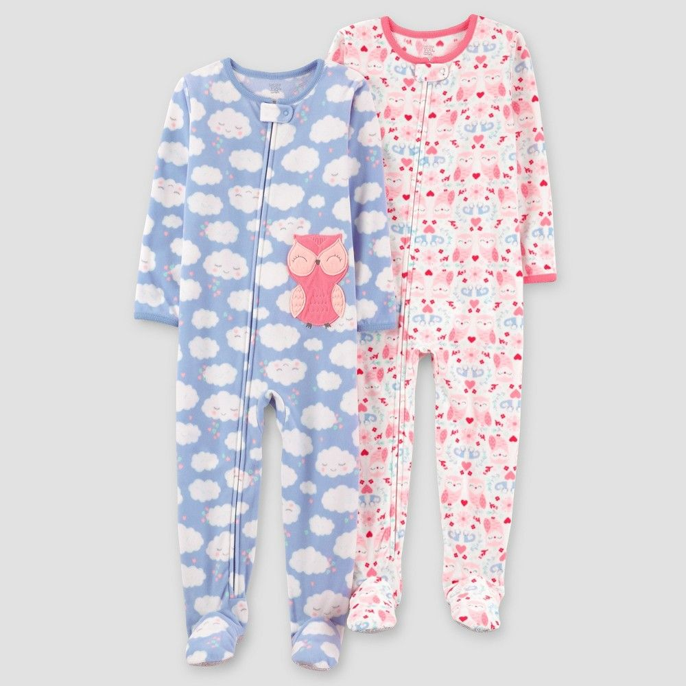 d8a8ceee5536 Toddler Girls  2pk Clouds Owl Fleece Pajama - Just One You Made by ...