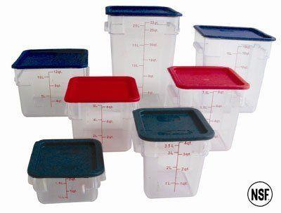 12 Qt Polycarbonate Square Food Storage Containers Clear By Thunder Group 83 99 12 Qt Polycarbonate Squa Food Storage Dining Storage Food Storage Containers