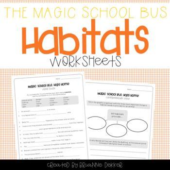 Magic School Bus Hops Home Habitats Worksheets My Tpt Store
