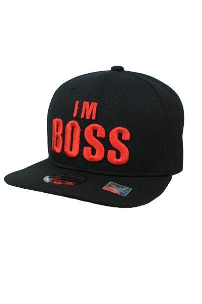 I `m BOSS Design Snap Back In Black