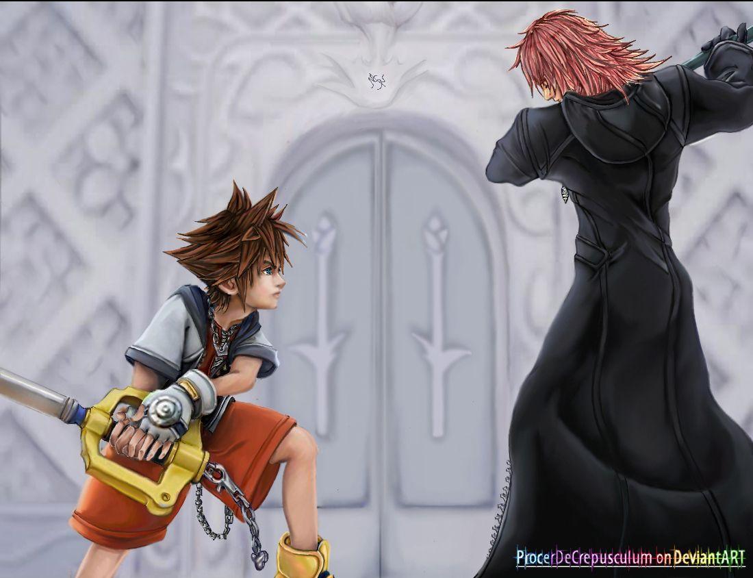 Kingdom Hearts Sora Vs Marluxia Sora Kingdom Hearts Kingdom Hearts Kingdom