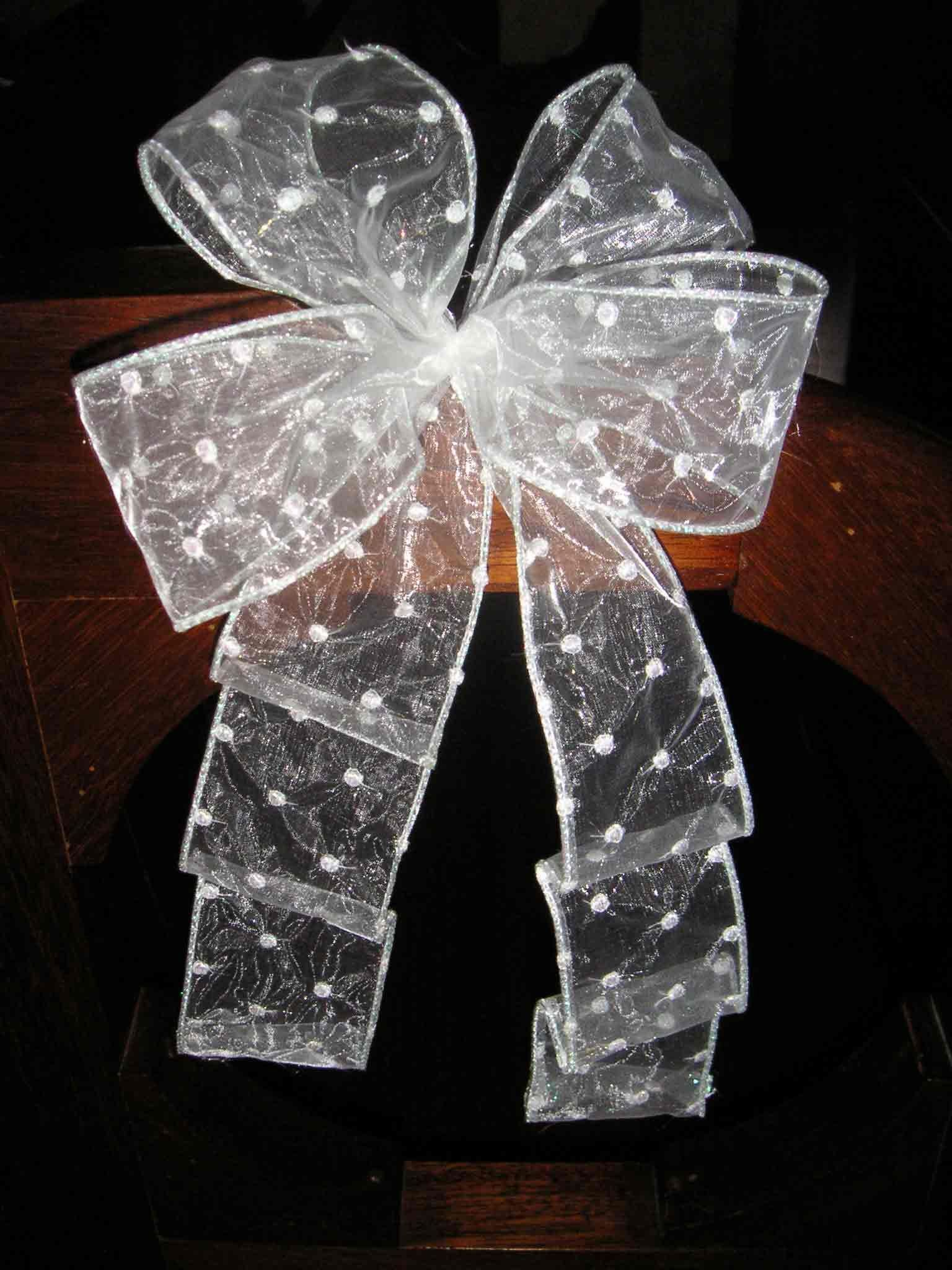 Wired Edged Double Bow for Wreaths | To-do craftiness! | Pinterest ...
