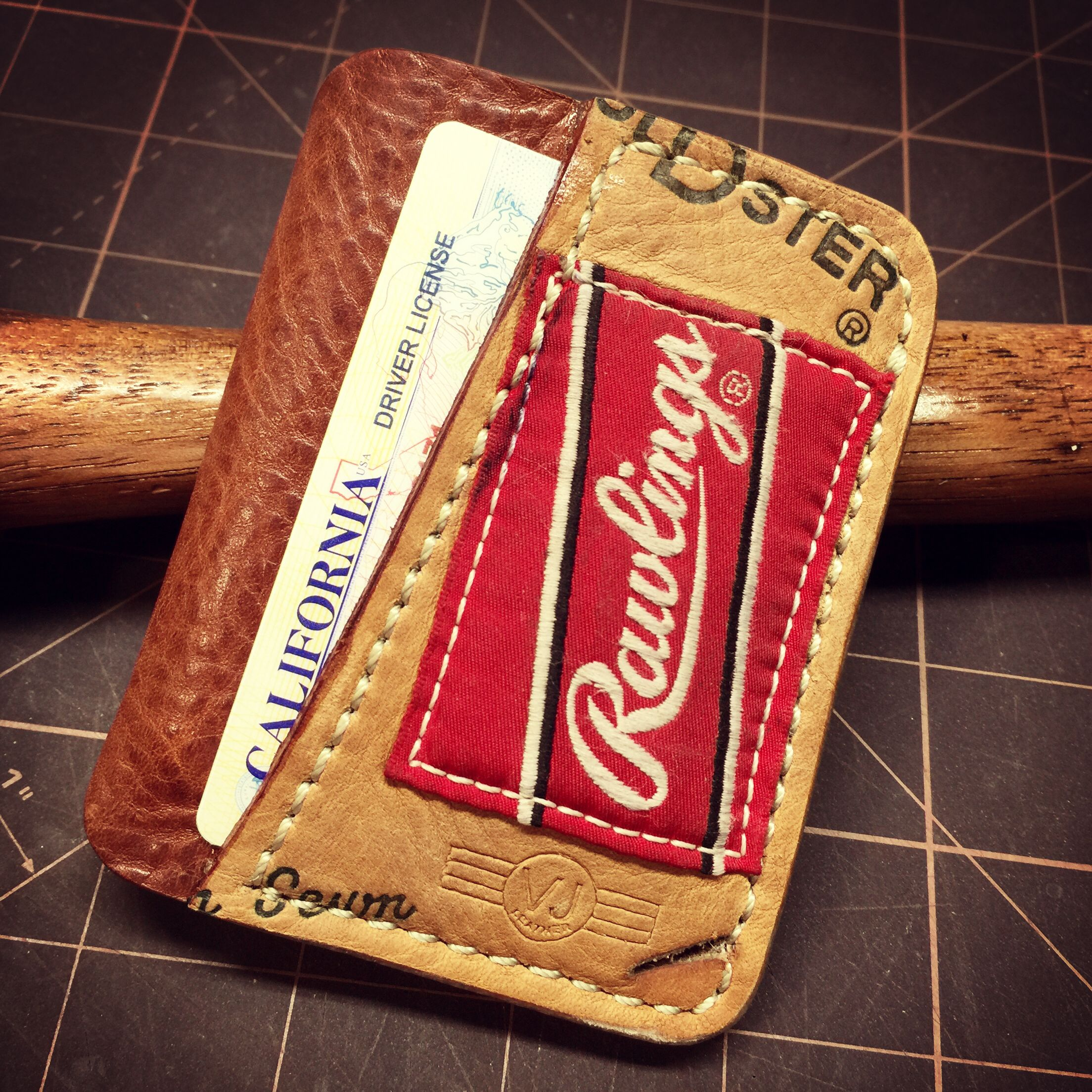 Recycled baseball glove wallet - Baseball Glove Wallet 2016 02 Ready To Go Www Beefskin Com