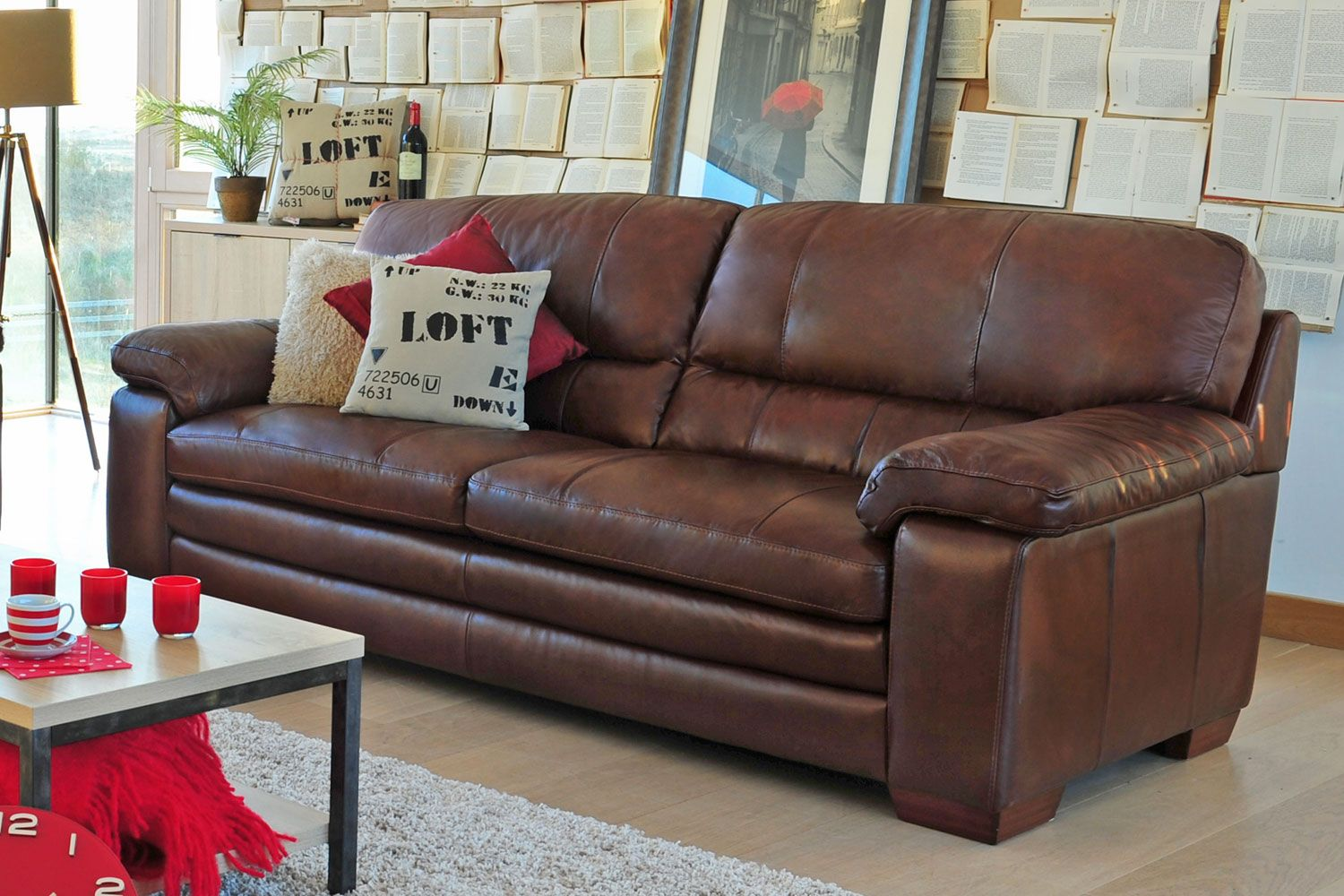 Lumina 3 Seater Leather Sofa From Harvey Norman Ireland Couch Makeover Couch White Dining Chairs