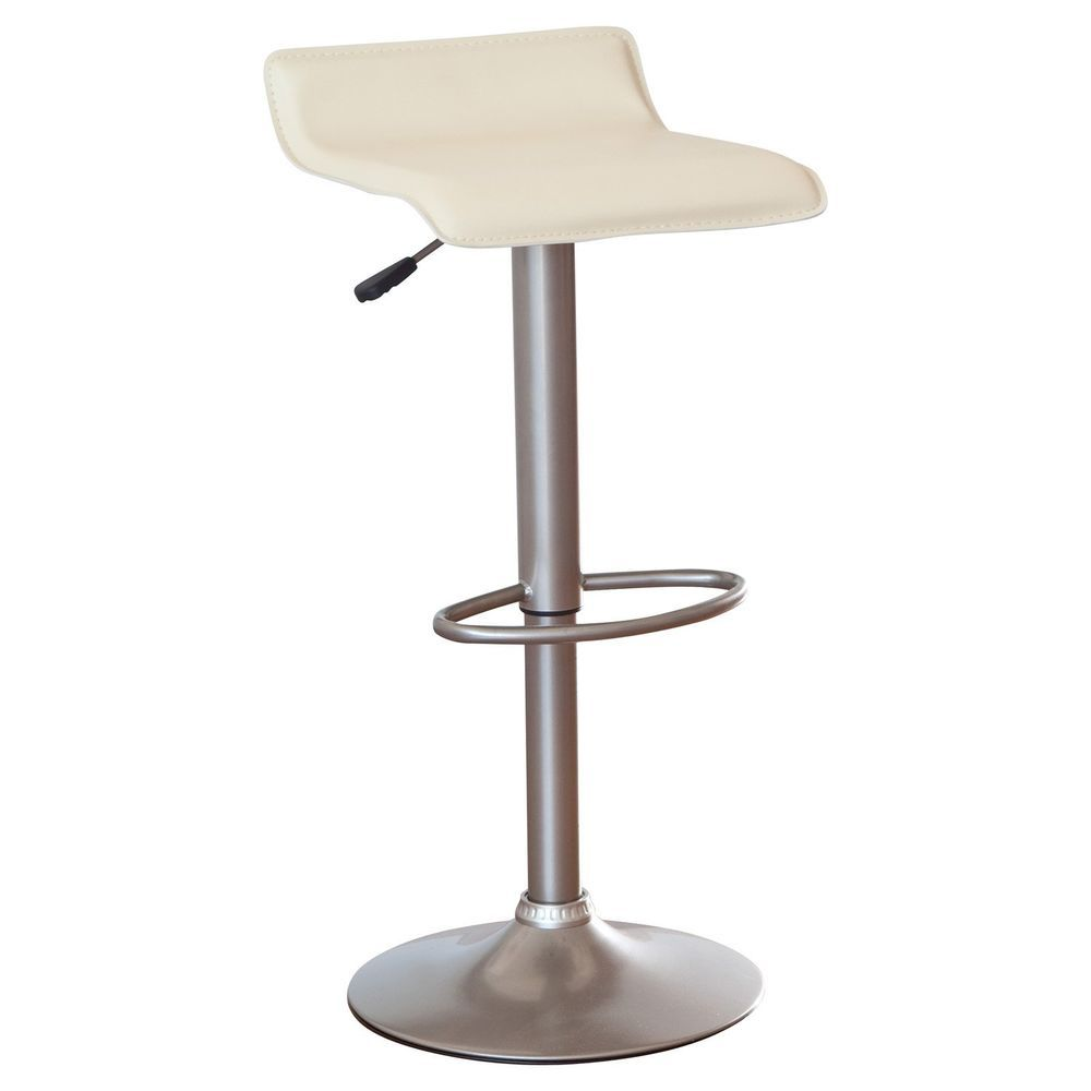 Swivel Bar Stool Pvc Leather Winsome Adjustable Single Backless